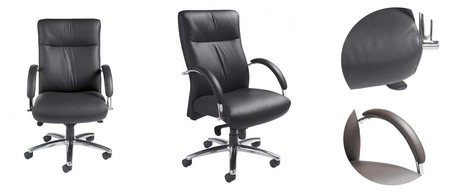 Khroma Chair with black onyx vinyl