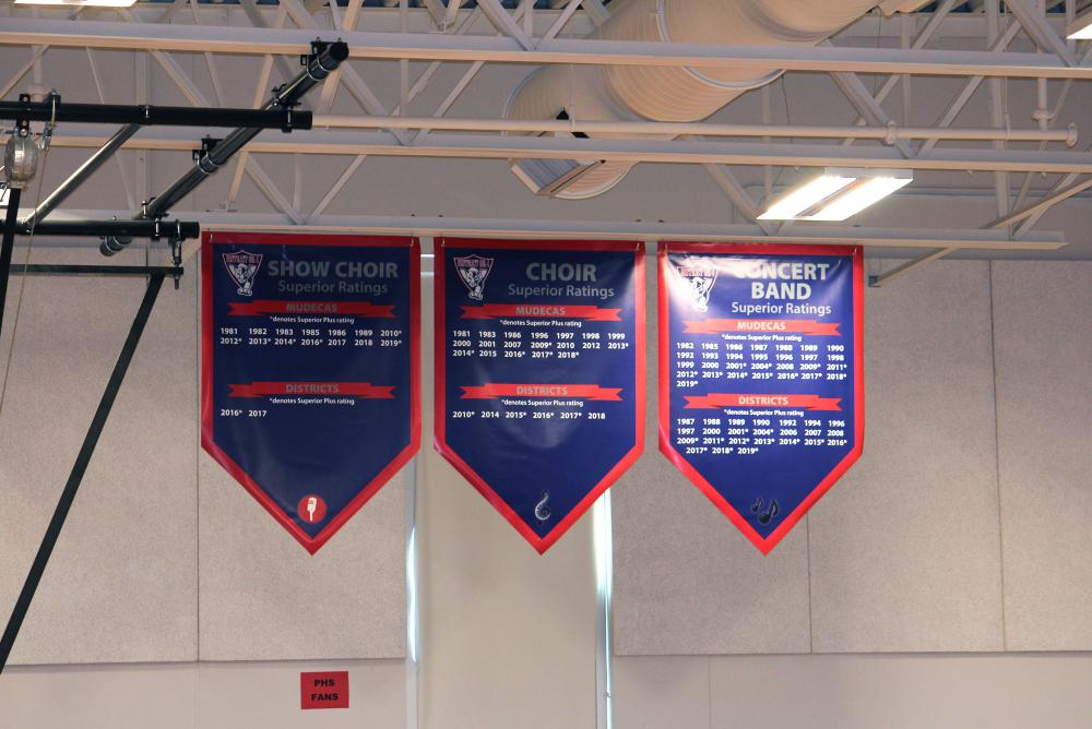 Palmyra Gym Banners - Show Choir, Choir and Band