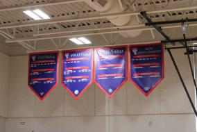 Palmyra Gym Banners - Football, Volleyball, Girls Golf and Boys Cross Country