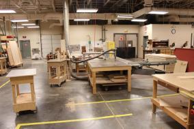 Modern Wood Shop facilities at TSCS