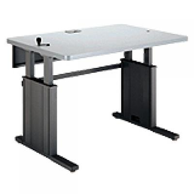 CRANK SIT/STAND HEIGHT ADJUSTABLE WORK SURFACE