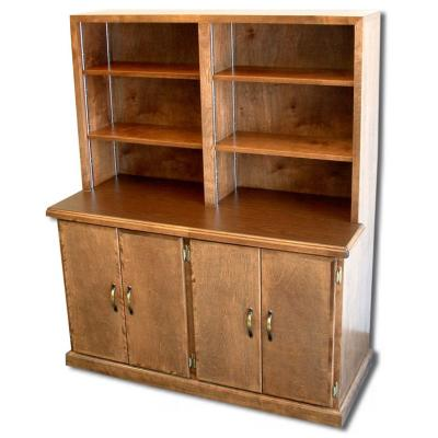 bookcase credenza with four doors and 4 bookshelves