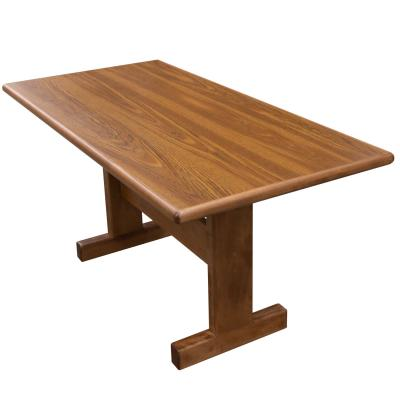 rectangular conference table for 6, side view