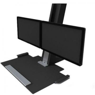 Quickstand workstation with dual monitors