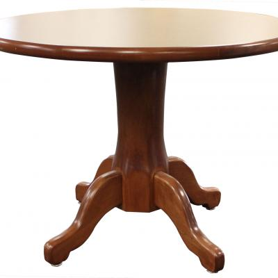 CONFERENCE TABLE ROUND WOOD EDGE Cornhusker State Industries - Round wood conference table