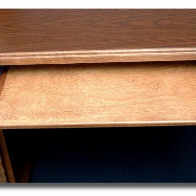 under mount wood desk keyboard