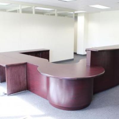 Large, multi-shape reception desk