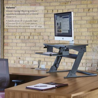 Volante sit-stand workstation with single monitor