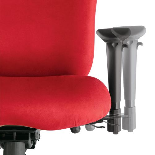 Lateral movement of the arm rest of an ithaca chair