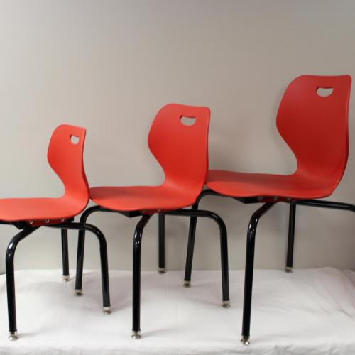 student small, medium and large poly chair