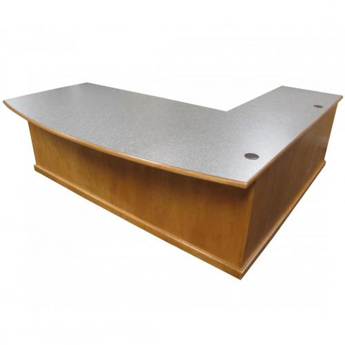 conference curved top desk with left return