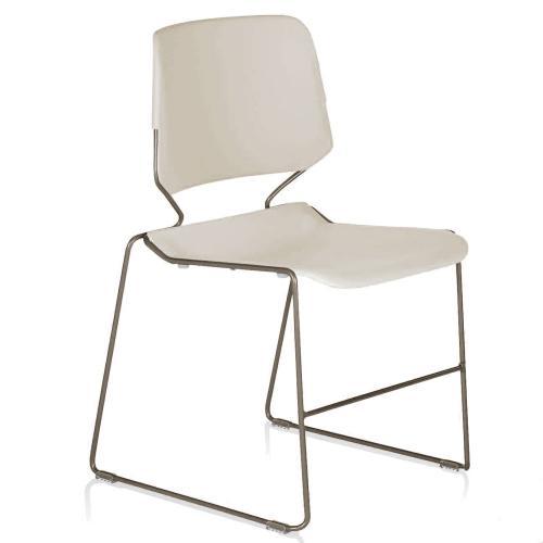 Dakota chair, white, no arms