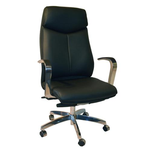 Delta chair with black vinyl and chrome arms