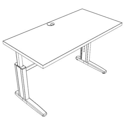 Schematic of the ELECTRIC HEIGHT ADJUSTABLE WORK SURFACE