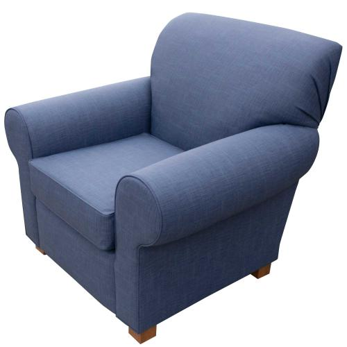Bennington chair with blue fabric