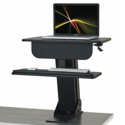 Kic sit-stand with single monitor