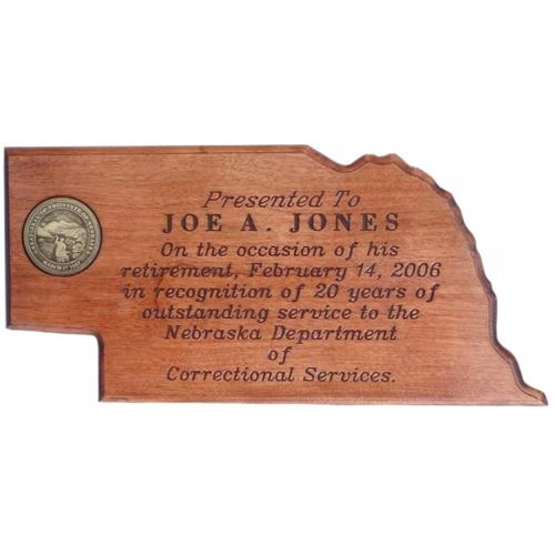 G-GV-921 Cherry stain Nebraska Plaque