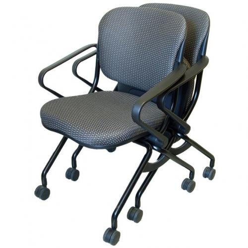 Two stacked navigator chairs with arms