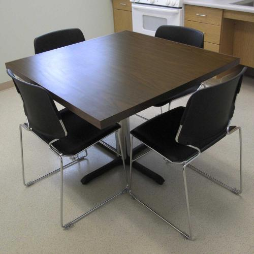square dinette table with chairs