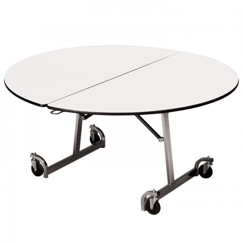 fold able round table with casters
